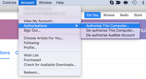 Fix Apple Music Item Not Available - Deauthorize and Authorize Your Computer