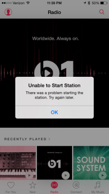 iOS 11 Apple Music Problems - Radio Stations Not Working