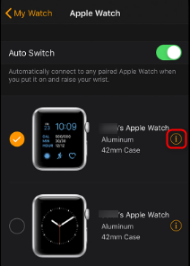 Fix Apple Watch Not Connecting to iPhone via Unpair and Repair - Step 2