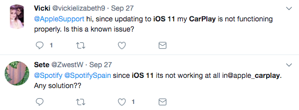 iOS 11 CarPlay Not Working from Twitter
