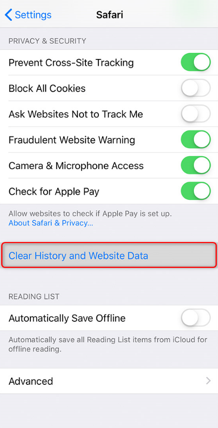 How to Fix Facebook Not Working on iPhone - Clear Website and History Data