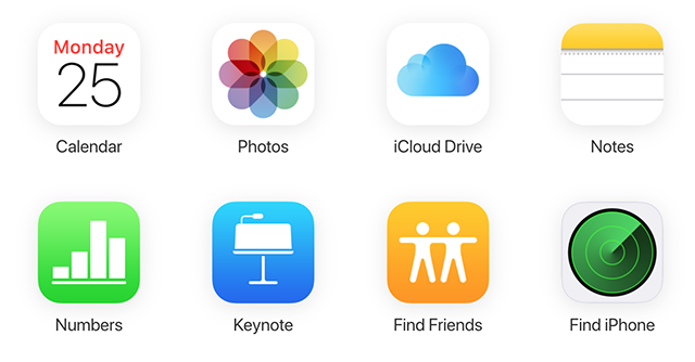Select the Find iPhone option on iCloud