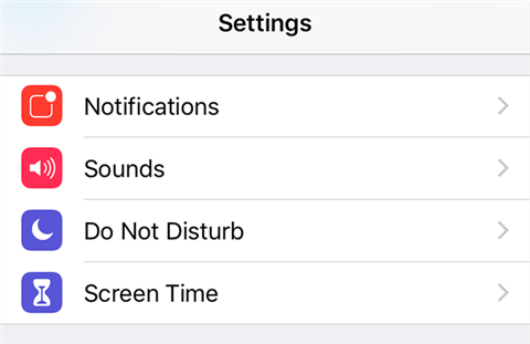 Access the Screen Time feature on your iPhone