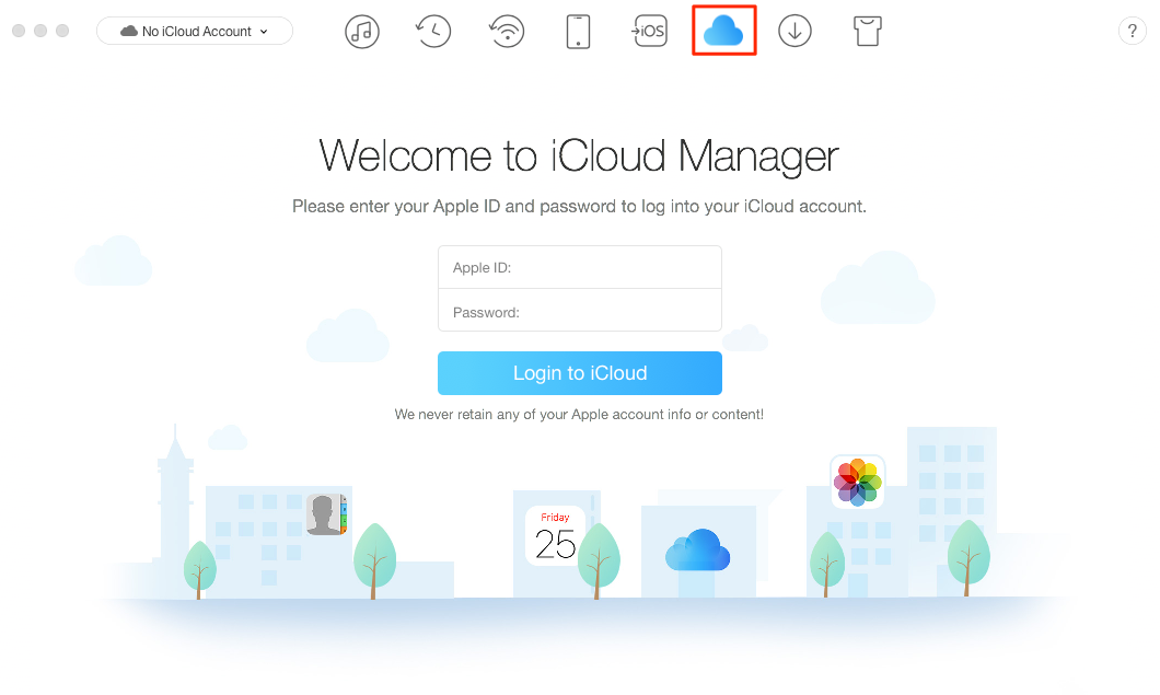 Make Good Management of the Content in iCloud Drive via AnyTrans – Step 1