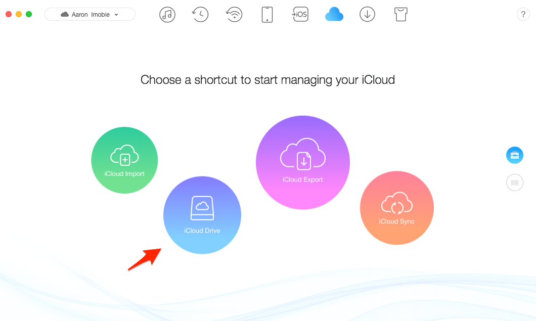 Make Good Management of the Content in iCloud Drive via AnyTrans – Step 2