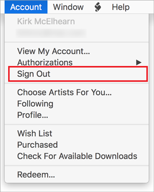 How to Fix iCloud Music Library Not Working - Sign in/out of iTunes
