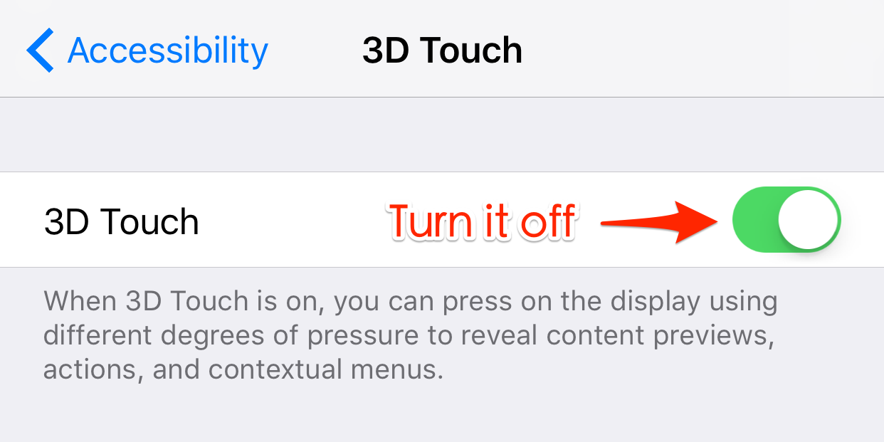 Fix iPhone Message Effects Not Working – Disable 3D Touch