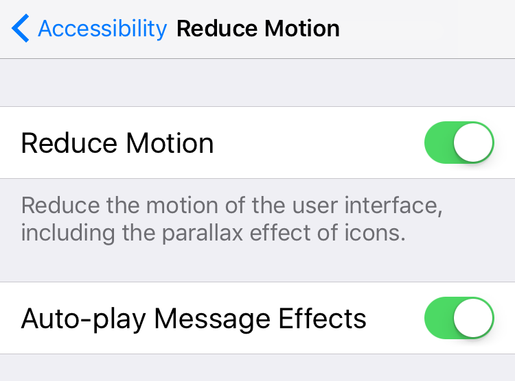 Fix iPhone Message Effects Not Working – Disable Reduce Motion