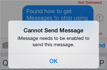 iMessage Needs to Be Enabled to Send This Message? Fix It Now