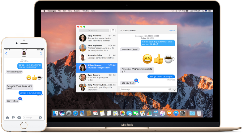 iMessage on Mac Computer
