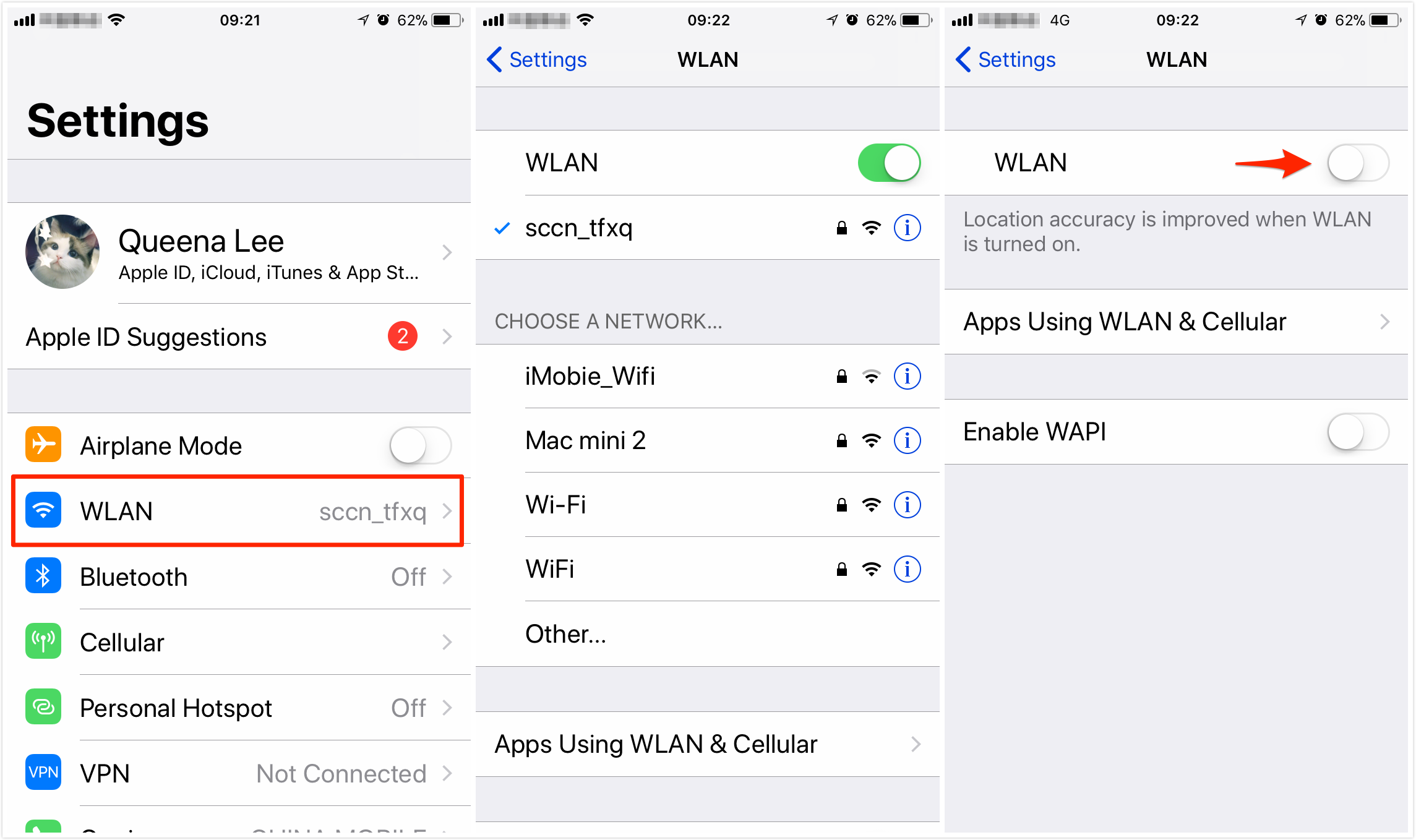 How to Turn off WiFi iOS 11