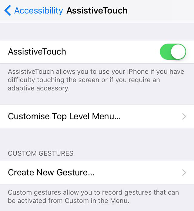 Fix iOS 12 Screenshot not Working with AssistiveTouch - Step 1