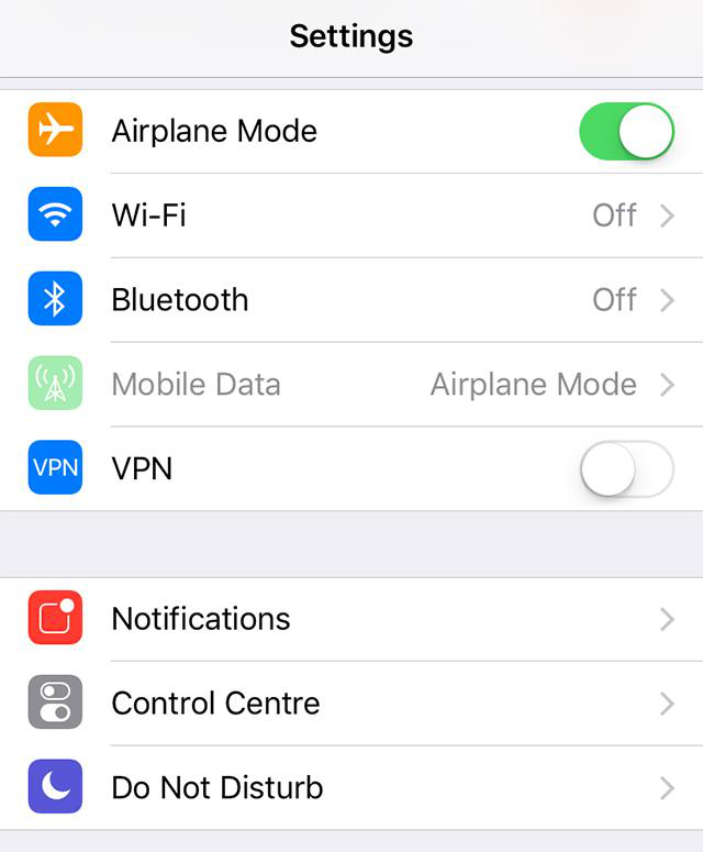 Fix iOS 12 Voicemail not Working with Airplane Mode