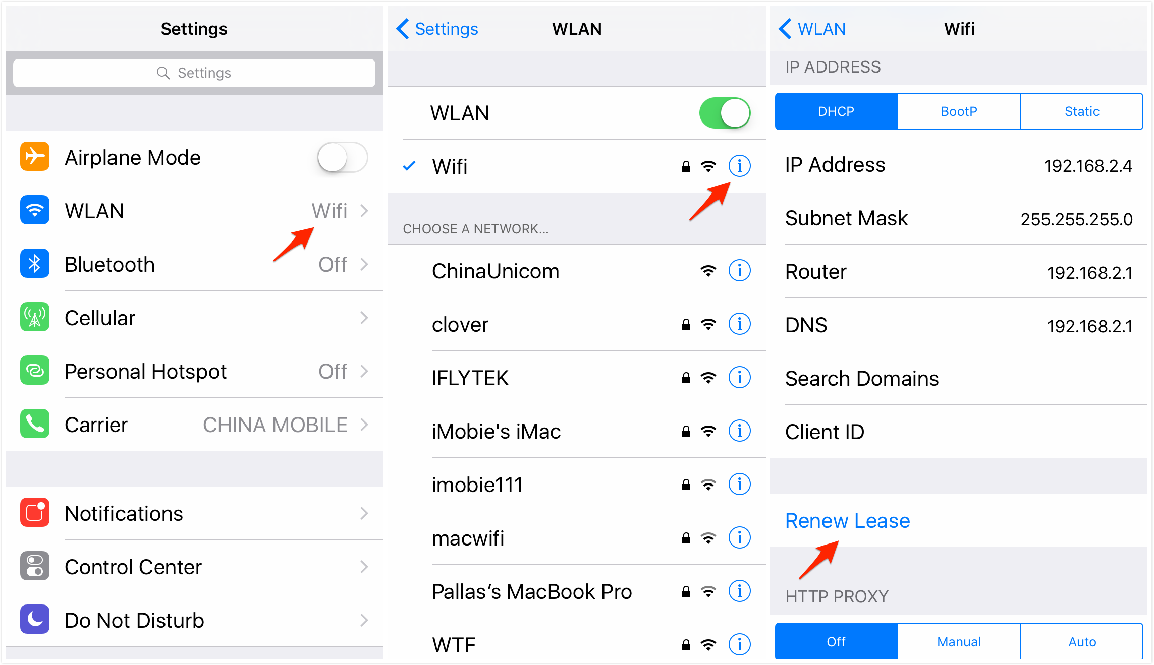 how to check ip address on iphone fix ip address conflict issue of wi fi on iphone and mac 9899