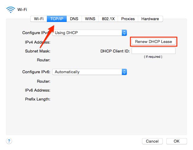 how to change ip address on mac wifi