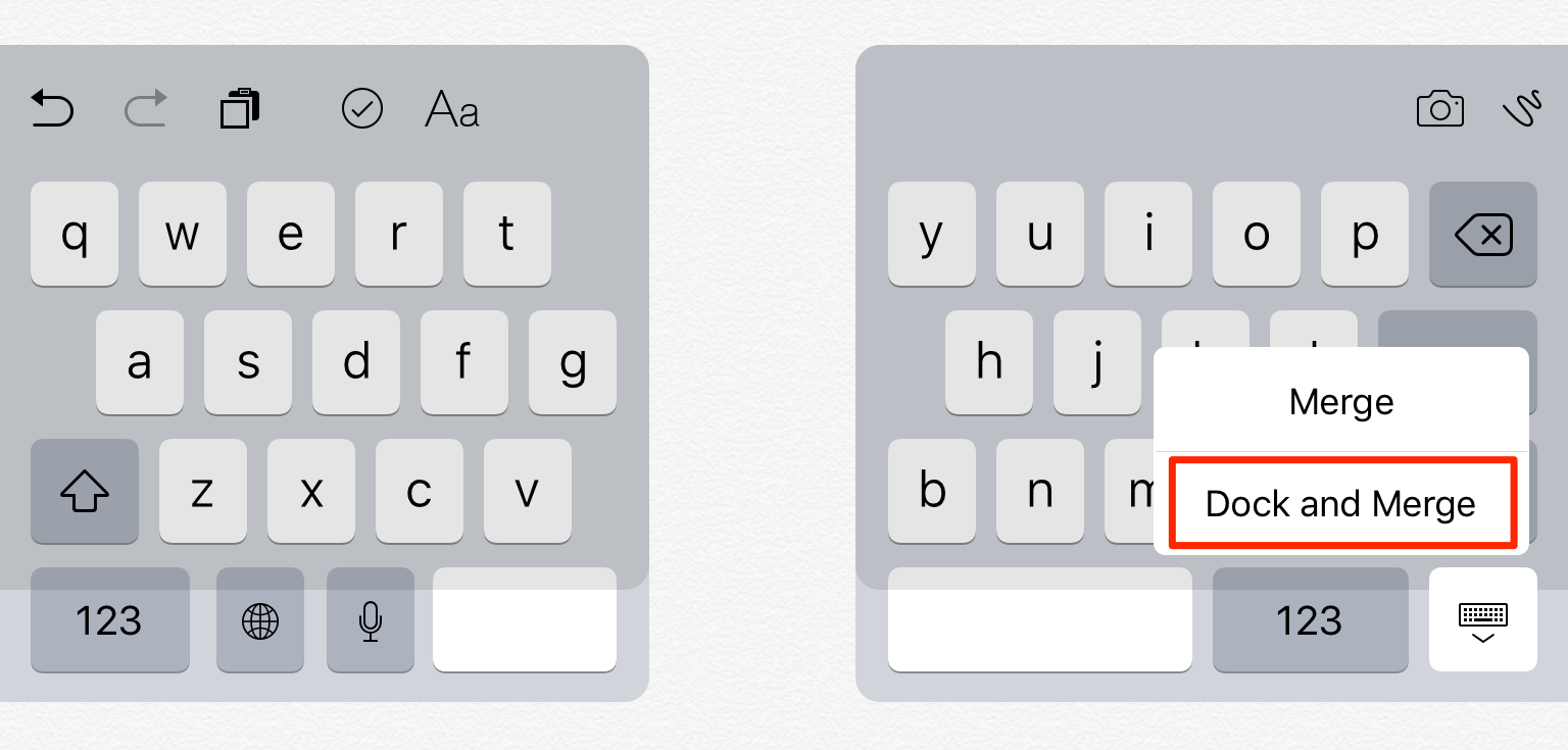 Fix iPad Keyboard Split