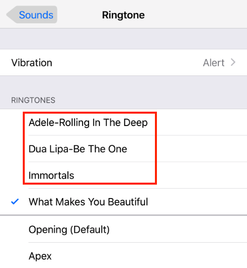 Check Ringtones on iPhone