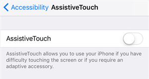 Disable AssistiveTouch on your iPhone