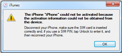 iPhone Could Not be Activated