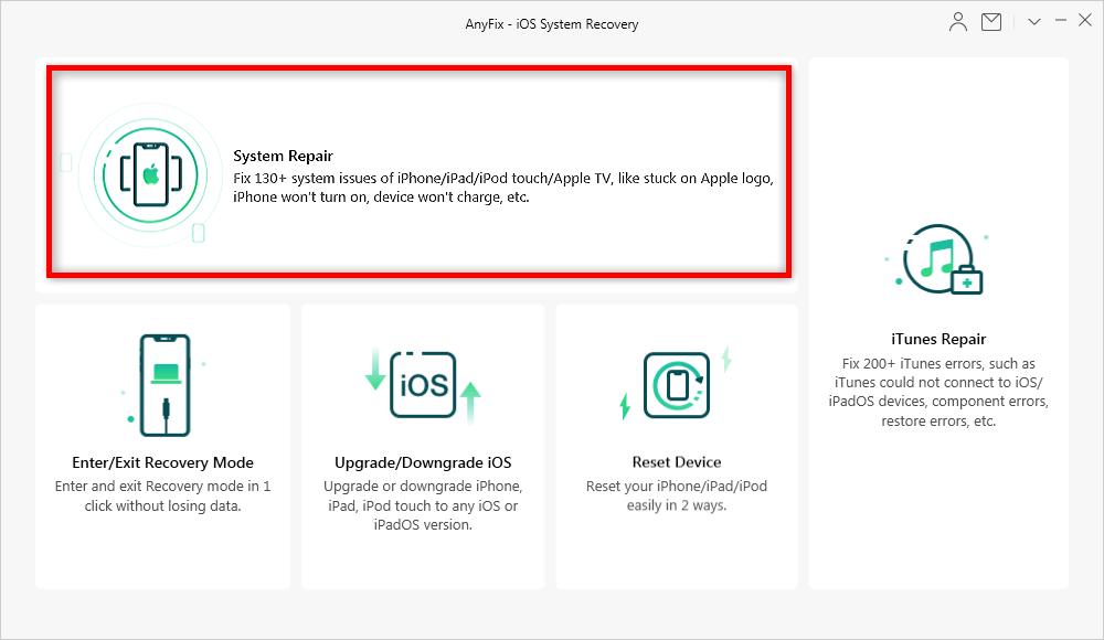 AnyFix System Repair