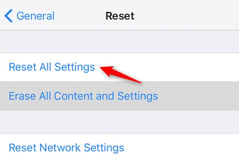 Fix iPhone Freezing after Update - Reset All Settings