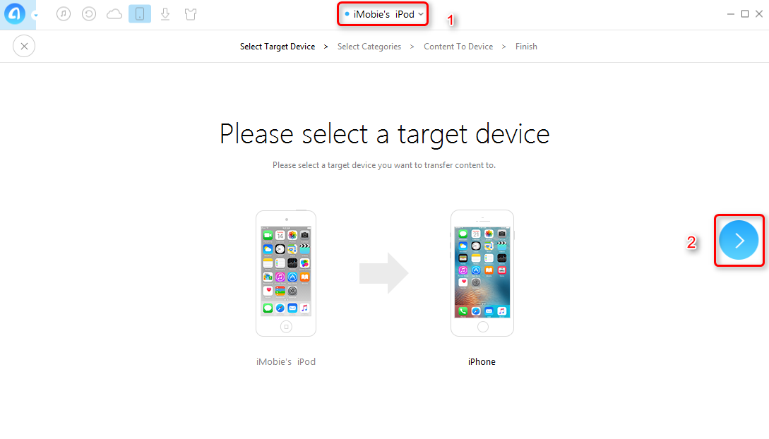 How to Transfer Calendars Between iOS Device with AnyTrans - Step 3