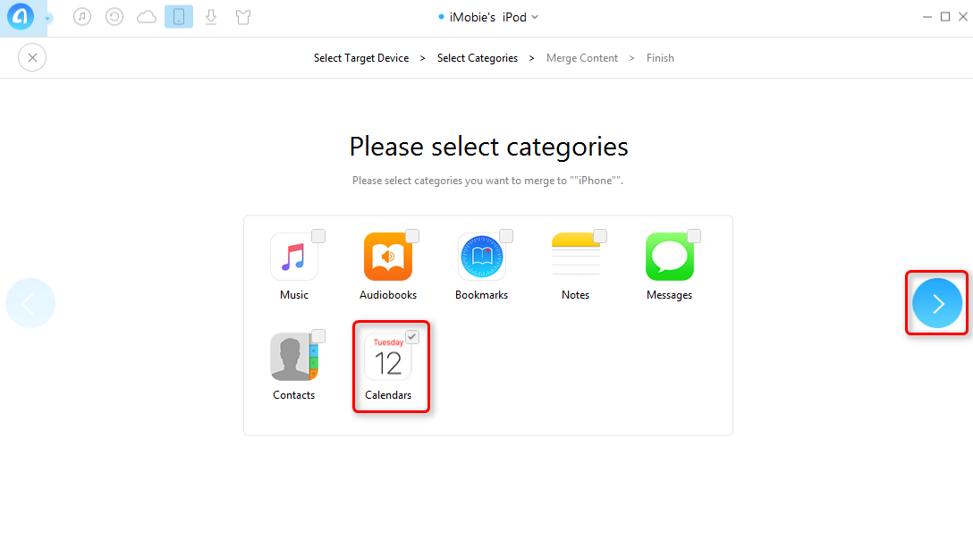 How to Transfer Calendars Between iOS Device with AnyTrans - Step 4