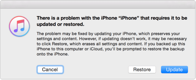Fix iPhone iPad Won't Turn on - Restore iPhone iPad with iTunes