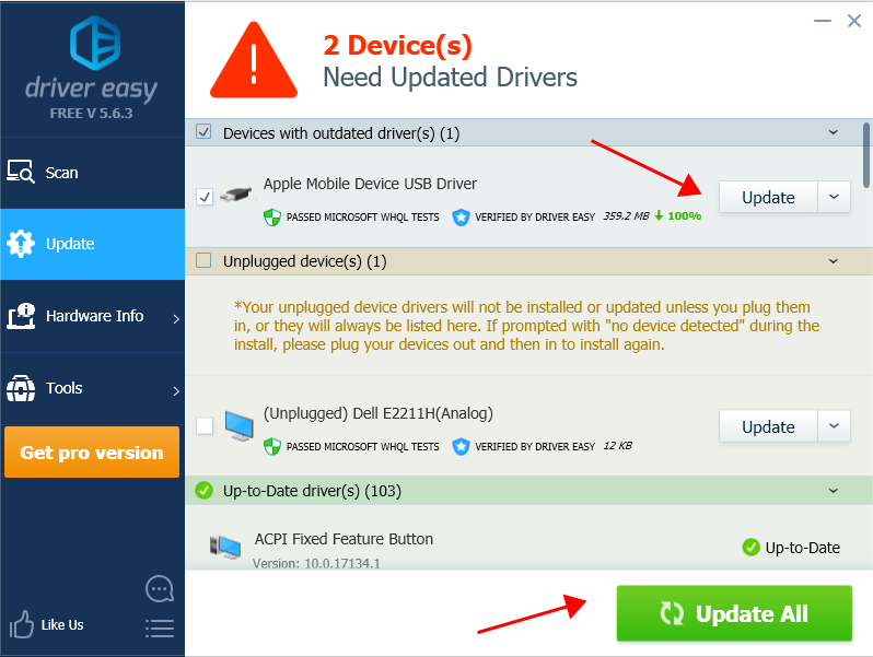 Automatically Install Apple Mobile Device USB Driver 2