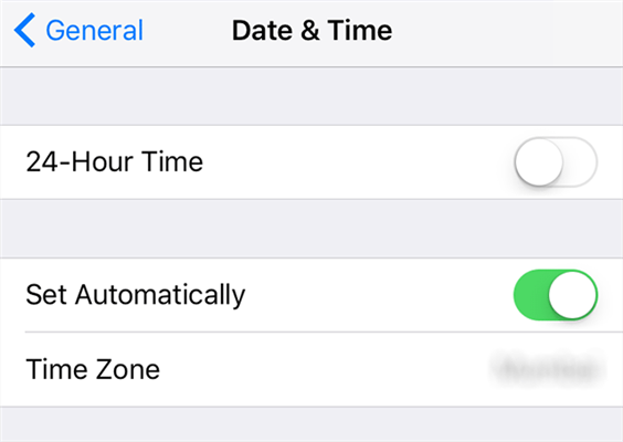 Set Automatic Date and Time on iPhone