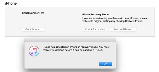 iphone stuck on screen with itunes and usb