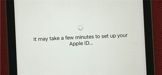 iPhone Stuck on it may Take a few Minutes to Set Up your Apple ID
