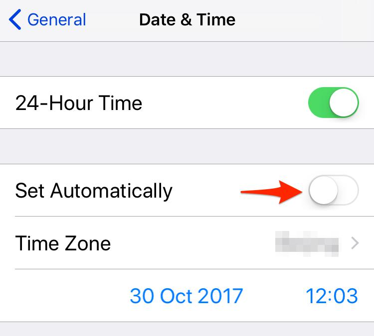Fix iPhone Time Wrong