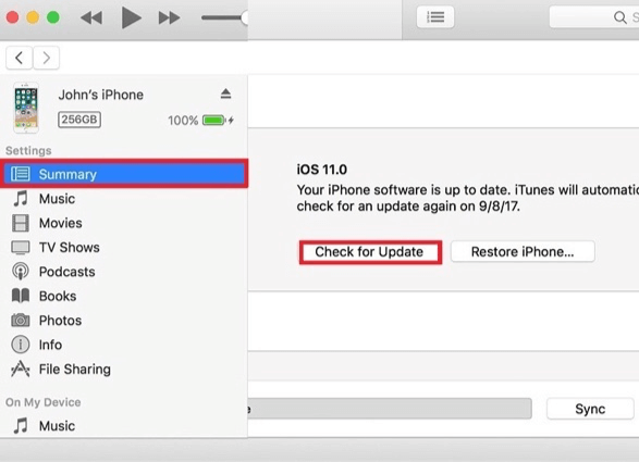 How to Fix iPhone 6 Typing on Its Own - Updating iPhone via iTunes