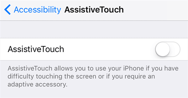 Activate AssistiveTouch Feature on your iPhone