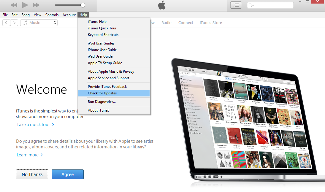 How to Fix iTunes Cannot Sync Photos to the iPhone via Update iTunes (On Windows)