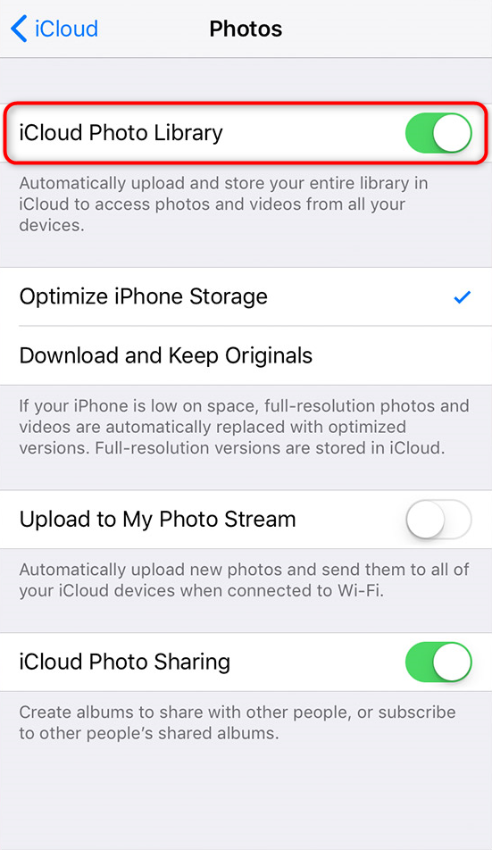 How to Fix iTunes Cannot Sync Photos to the iPhone via Disable iCloud Photo Library