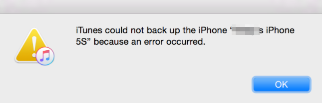 iTunes Could Not Back Up the iPhone Because an Error Occurred