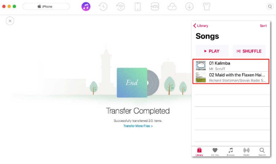 Sync Songs from iTunes to iPhone – Step 3