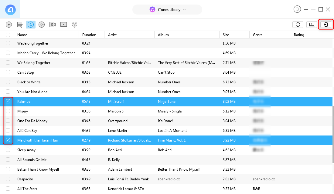 Sync Songs from iTunes to iPhone – Step 2