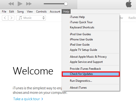 Fix iTunes Error 0xe80000 - Update iTunes