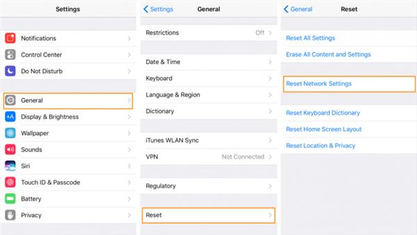 Fix iTunes Error 1667 via Resetting Network Settings