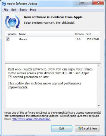 Fix iTunes Error 27 - Upgrade iTunes