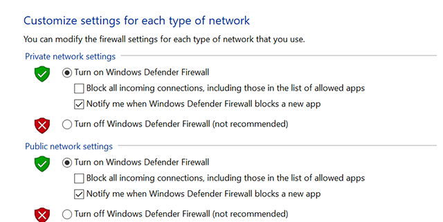 Disable Firewall on Windows