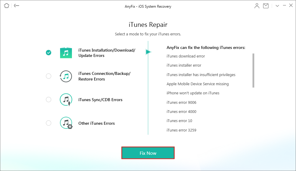 How to Fix iOS System Issues with AnyFix