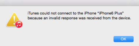 itunes could not connect to this iphone how to fix itunes not connect to iphone amp invalid response 20504