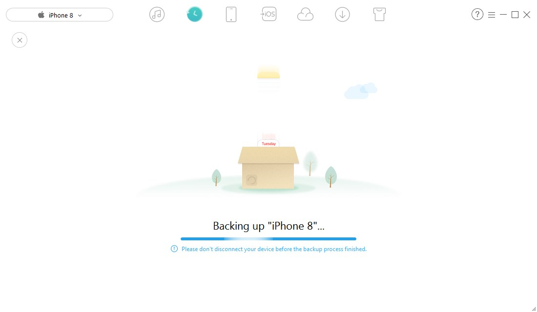 How to Backup iPhone iPad with AnyTrans Wholly - Step 2