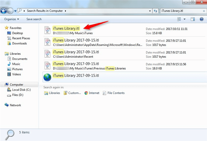 How to Fix The File iTunes Library.itl Cannot Be Read on Windows - Step 1