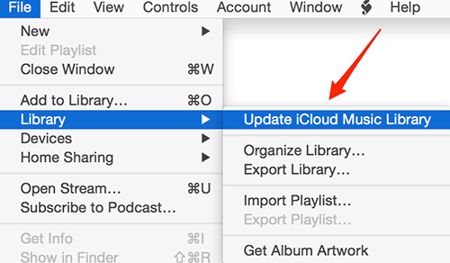 Update iCloud Music Library on iTunes 12.2.1