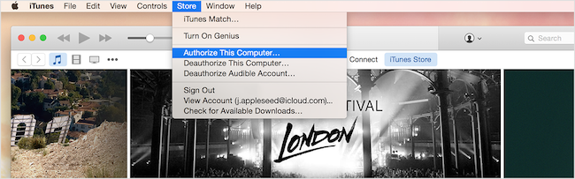Fix iTunes Songs Greyed Out Issue via Re-authorize Your Computer